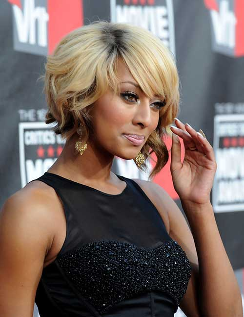 Keri Hilson Short Bob Hairstyles Blonde Color