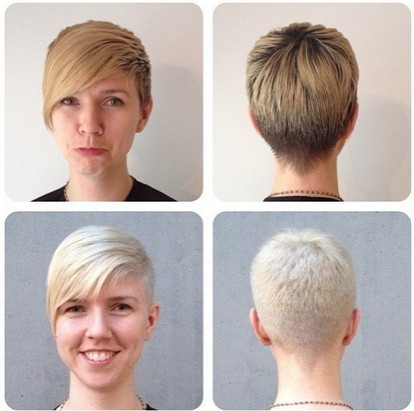 Very Short Hairstyles with Long Bangs