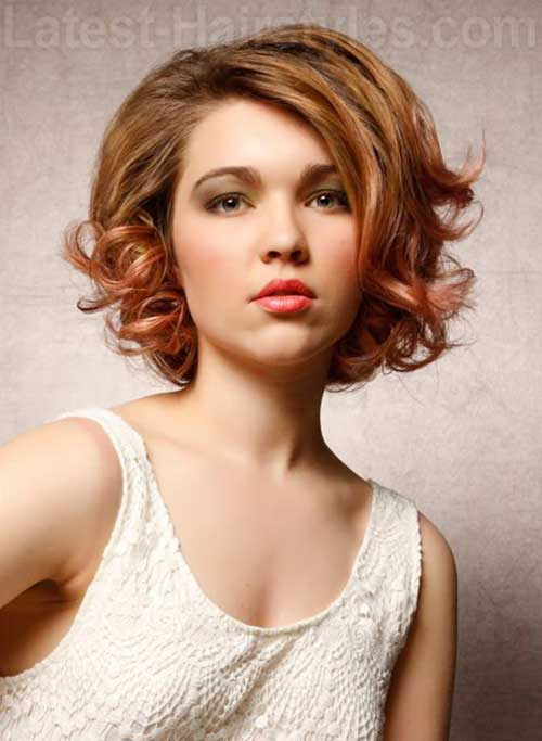 Short Curly Hair for Round Faces-12