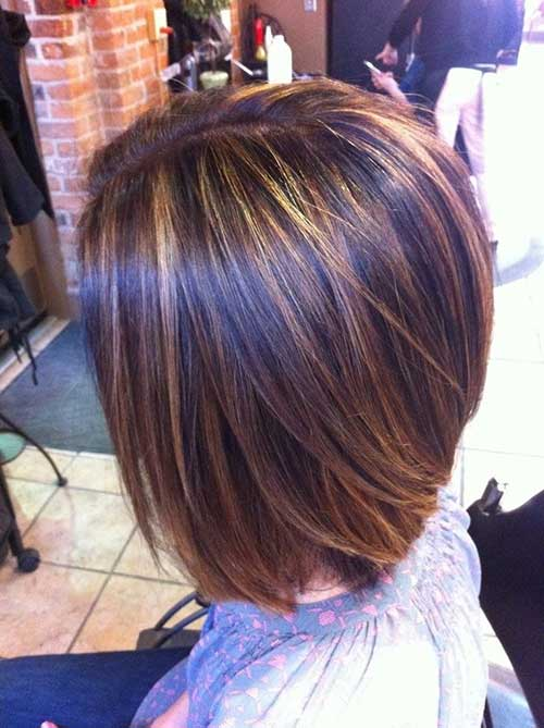 Brown Bob with Highlights Hair