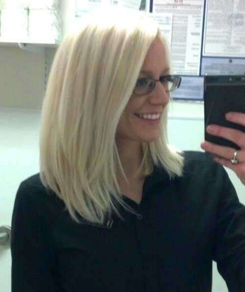 Long Layered Platinum Blonde Bob Hair
