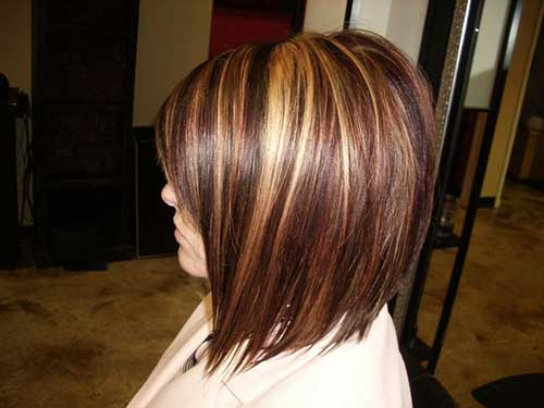 Straight Long Aline Bob with Highlights