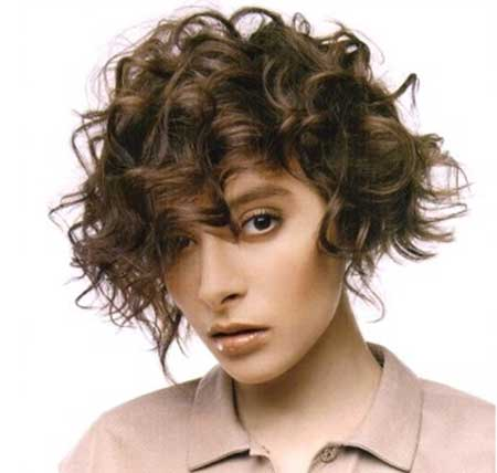 Short Brown Curly Hairstyle