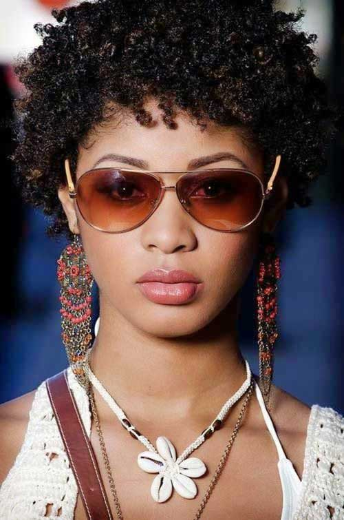 Short Curly Afro Hairstyles-17