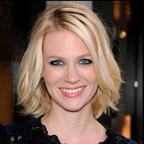Ladies Wavy Blonde Bobs Hairstyles