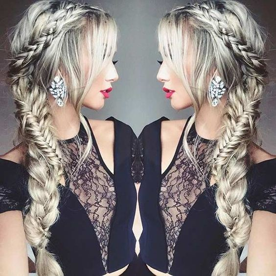 Ziemlich Side-Swept Braid Frisur - Prom Frisuren für langes Haar