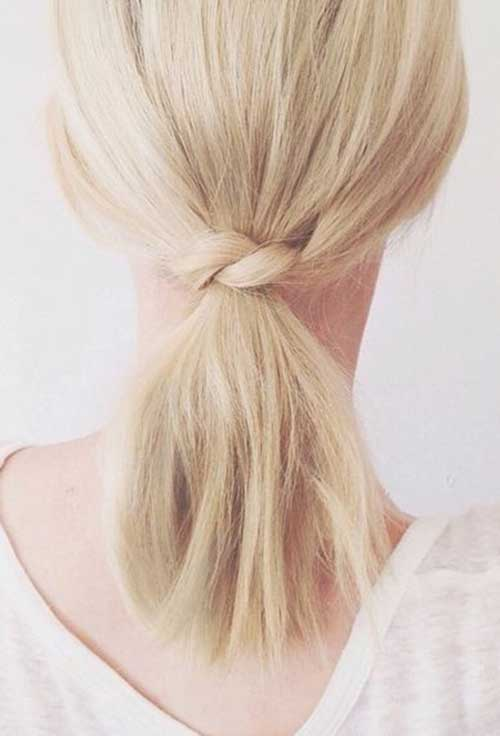 Cute and Simple Low Ponytail Hairstyles for Short Hair
