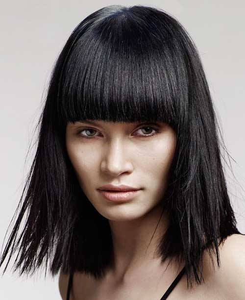 Blunt Long Bob Hairstyles Ideas for Thick Hair
