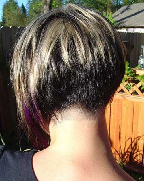 Cool Short Bob Haircut Back View 2018