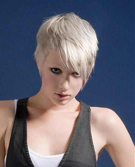 Cool and Lovely Platinum Pixie Cut