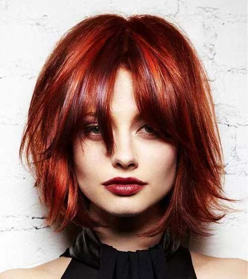 Ladies Hairstyles with Red Bob