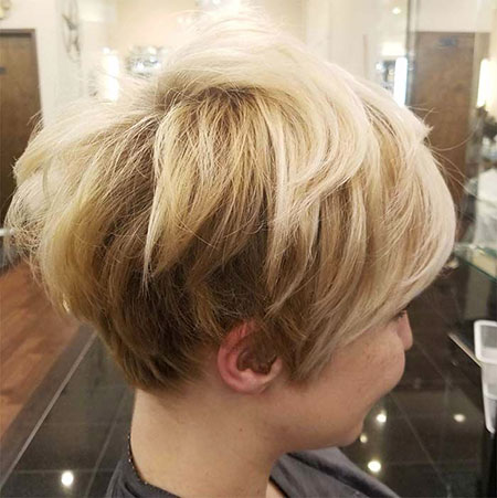 Layered Pixie Blonde Messy