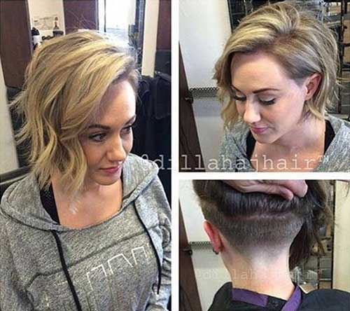 Wavy Tapered Bob Haircuts