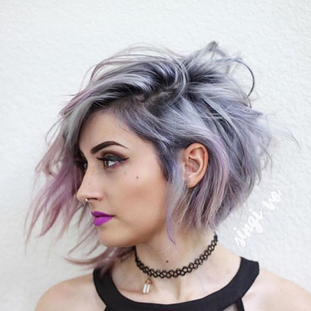 Purple and Silver Hair