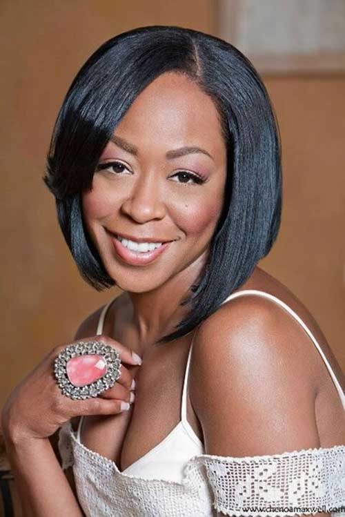 Asymmetrical Bob Hairstyles for Black Women 2018