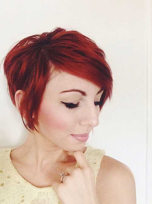 Cute Pixie Red Hairstyles