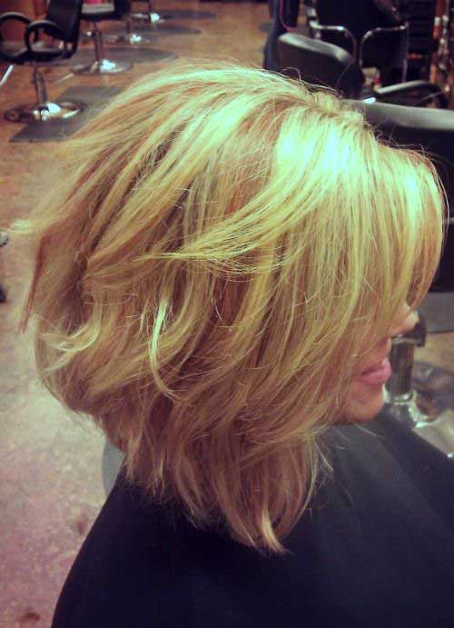 Angled Thick Bob Hairstyle Images