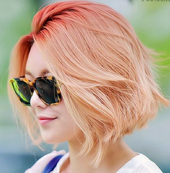 Kurze gerade Frisuren - Ombre Bob Haircut