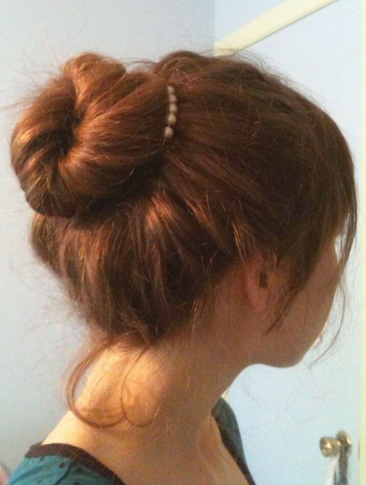 Easy Bun Frisuren für langes Haar
