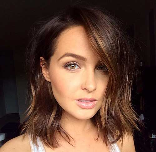 Wavy Long Brown Bob Hair
