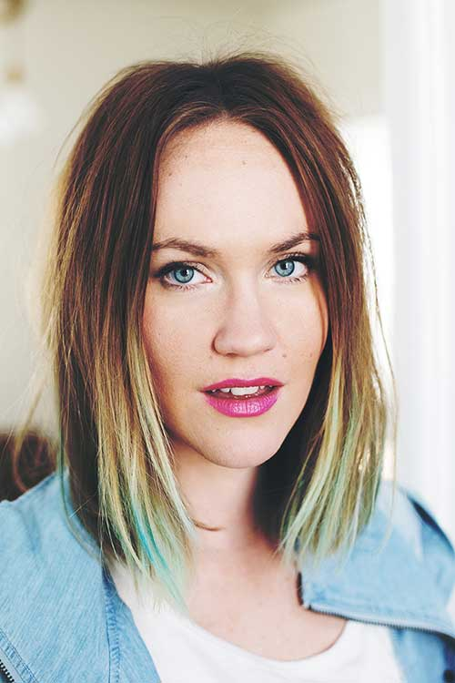 Long Bob Ombre with Colors