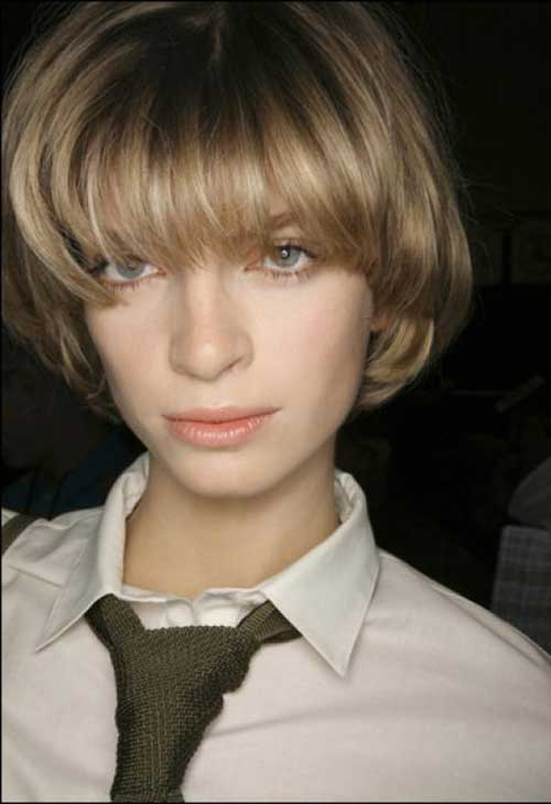 Ash Blonde Short Blunt Bob Hairstyles