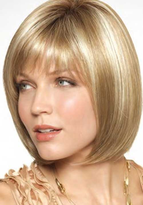 Fine Hair Stacked Bob Ideas with Bangs
