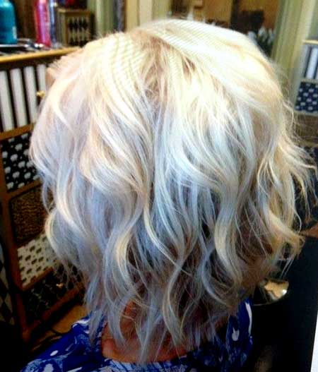 Blonde Curly Short Haircut for Girls