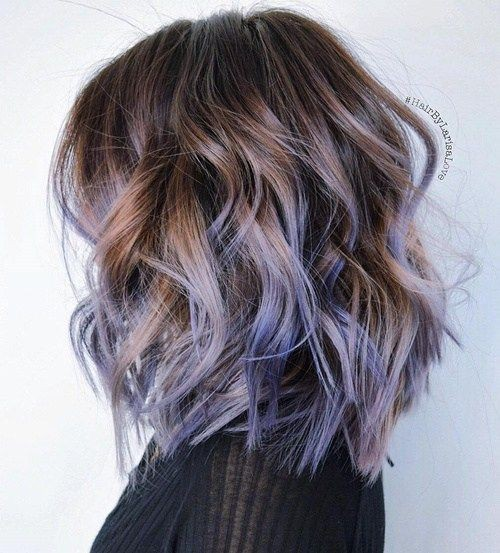curly-lob-hair-cuts-2018-prettiest-pastel-hair-ideas-purple-and-brown