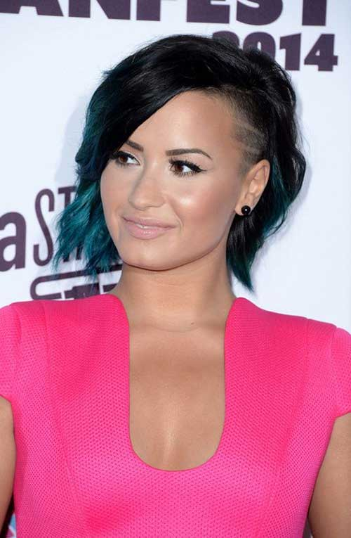 Demi Lovato Shaved Bob Hair