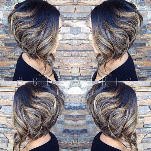 Super Curly Inverted Bob Haircuts for Thick Hair