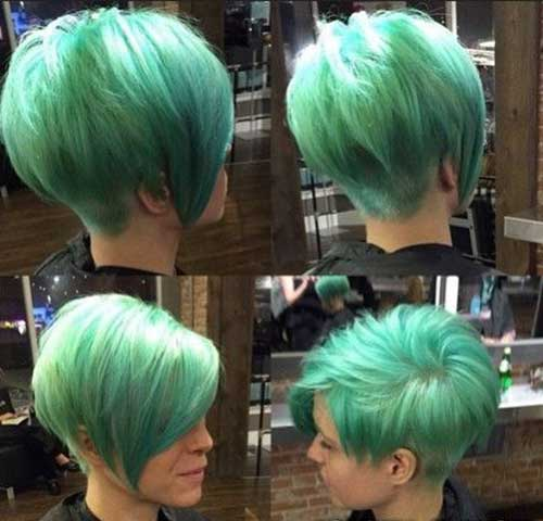 Short Green Hairstyles for Girls 2018