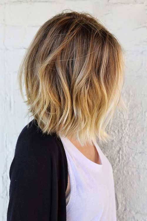 Balyage Ombre for Short Hairstyles 2018