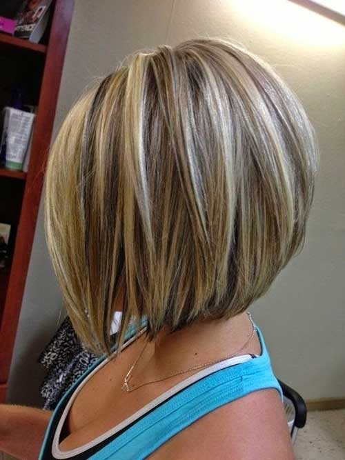 Short Blonde Bob with Highlights for 2018