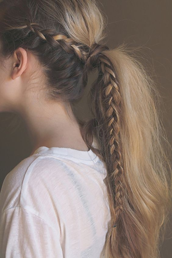 Amazing Braid Ponytail Hairstyle for Girl Long Hair