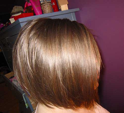 Brown Colored Graduated Bob Pictures