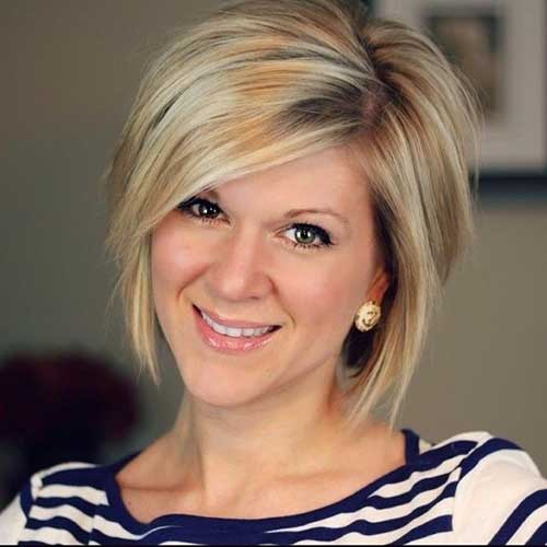 Short Inverted Blonde Bob Hairstyles