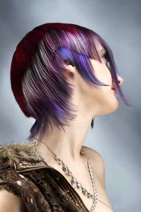 Crazy Colored Short Edgy Hair for Girls