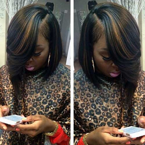 Long Bob Hairstyles for Black Women-6