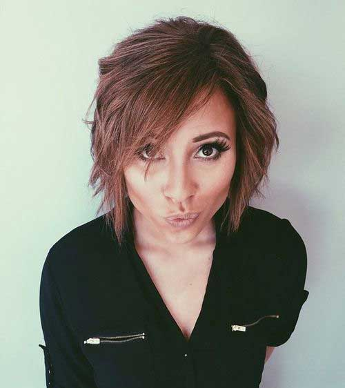 Short Bob Hairstyles with Side Swept Bangs-11