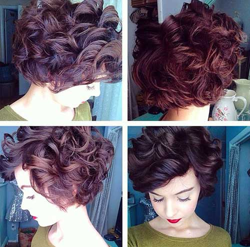 Short Curly Hair Styles-20