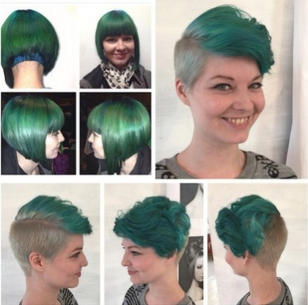 Green, Hairstyle Ideas for Short Hair