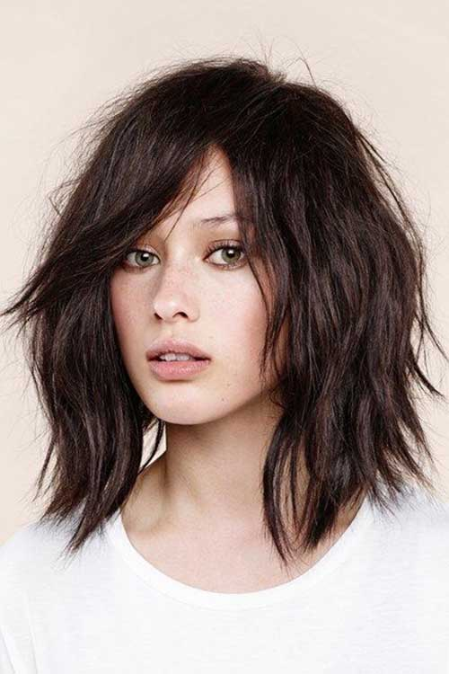Girls Layered Messy Bob Hairstyles