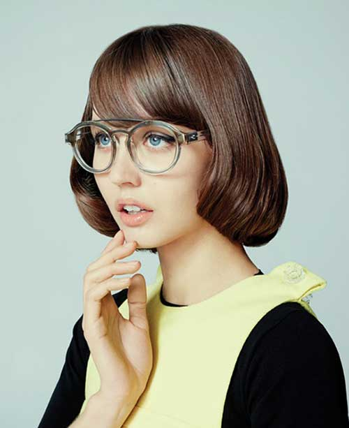 Bob Hairstyles with Bangs-9