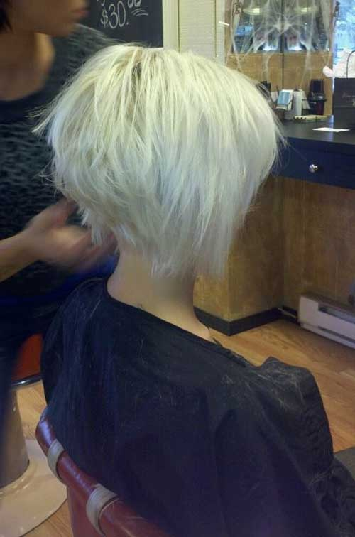 Graduated Choppy Bob Hairstyles