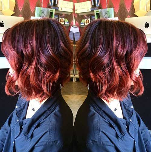 Ombre Hair Color For Short Hair-7