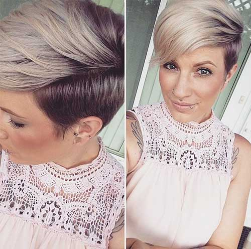 Best Short Two Colored Hairstyles 2018