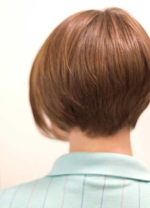 Graduated Short Bob Haircut Back View