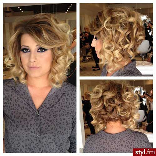 Classy Curled Bob Hairstyles