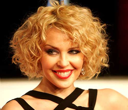 Curly Thick Bob Hair Cut for Round Faces